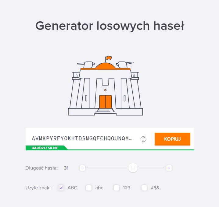 generator silnych haseł - Avast