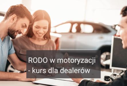 RODO w motoryzacji – kurs dla dealerów