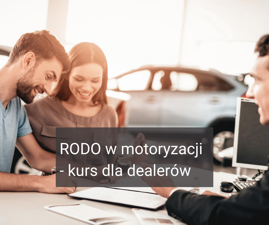 Kurs RODO dla dealerów