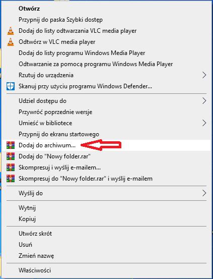 szyfrowanie plików w WinRAR