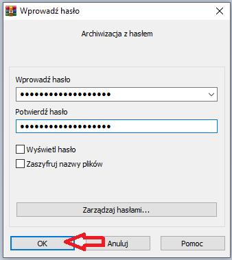 szyfrowanie w WinRAR